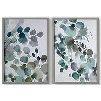 Product photograph showing Art For The Home Set Of 2 Sage Springs Framed Canvas