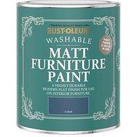 Product photograph showing Rust-oleum Rust-oleum Matt Furniture Paint Cobalt 750ml