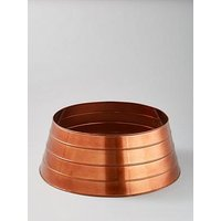 Product photograph showing Ivyline Metal Christmas Tree Skirt In Copper