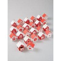 Product photograph showing 24 Piece Wooden Birdhouse Hanging Advent Calendar Set