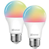 Product photograph showing Ezviz Twin Pack Colour Smart Bulb E27 2 Bulbs