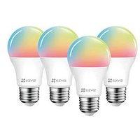 Product photograph showing Ezviz Quad Pack Colour Smart Bulb E27 4 Bulbs