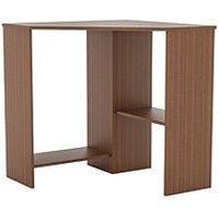 Product photograph showing Vida Designs Hetton Corner Computer Desk - Walnut Effect