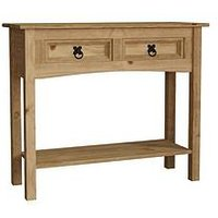 Product photograph showing Vida Designs Corona 2 Drawer Console Table