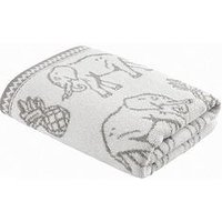 Product photograph showing Pineapple Elephant Tembo Hand Towel Grey