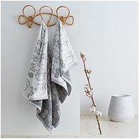 Product photograph showing Pineapple Elephant Tembo Bath Towel Grey