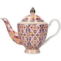 Product photograph showing Maxwell Williams Kasbah Porcelain Teapot With Infuser In Rose