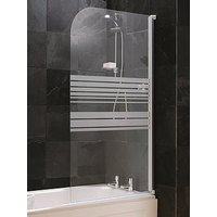 Product photograph showing Aqualux Striped Bath Shower Screen