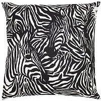 Product photograph showing Riva Home Hidden Zebra Cushion