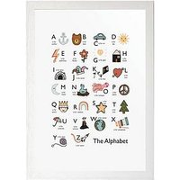 Product photograph showing East End Prints Alphabet By Kid Of The Village A3 Framed Print