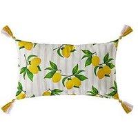Product photograph showing Skinny Dip Summer Lemon Cushion