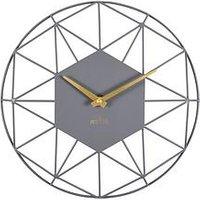 Product photograph showing Acctim Clocks Alva Owl Grey Wall Clock