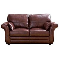 Product photograph showing Vantage Italian Leather 2 Seater Sofa