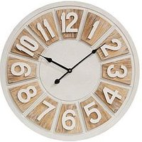 Product photograph showing Hestia Two Tone Round Wall Clock
