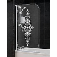 Product photograph showing Aqualux Victorian Bath Shower Screen