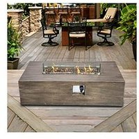 Product photograph showing Peaktop Peaktop Firepit Outdoor Gas Fire Pit With Lava Rocks Cover