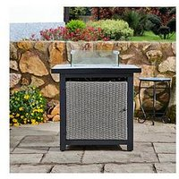 Product photograph showing Peaktop Peaktop Firepit Outdoor Gas Fire Pit Rattan