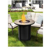 Product photograph showing Peaktop Firepit Outdoor Gas Fire Pit - Metal
