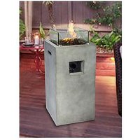 Product photograph showing Peaktop Peaktop Firepit Outdoor Gas Fire Pit Concrete Style With Cover