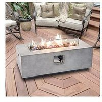 Product photograph showing Peaktop Peaktop Firepit Outdoor Gas Fire Pit Stone With Lava Rock Cover