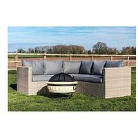 Product photograph showing Peaktop Peaktop Firepit Wood Burning Fire Pit Concrete Style Grill Poker