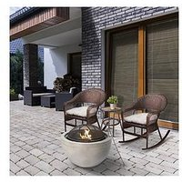 Product photograph showing Peaktop Peaktop Firepit Wood Burning Concrete Style Bbq Grill