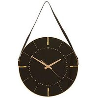 Product photograph showing Premier Housewares Celina Wall Clock With Hanging Strap