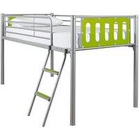 image-Cyber Mid-Sleeper Bed Frame With Mattress Options (Buy And Save!) - Bed Frame With Premium Mattress