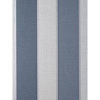 Product photograph showing Fine D Cor Larson Stripe Navy Silver