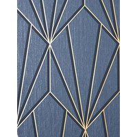 Product photograph showing Fine D Cor Cascade Geo Navy Gold