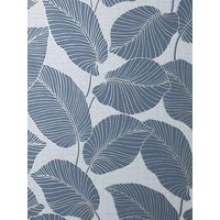 Product photograph showing Fine D Cor Larson Leaf Navy Silver