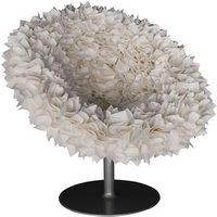 Poltrona girevole Bouquet di Moroso - Bianco - Tessuto