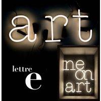 Applique con presa Neon Art - Lettera E di Seletti - Bianco - Vetro