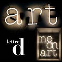 Foto Applique con presa Neon Art - Lettera D di Seletti - Bianco - Vetro