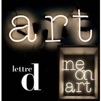 Applique con presa Neon Art - Lettera D di Seletti - Bianco - Vetro