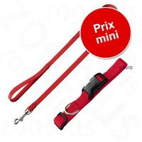 Lot Hunter : collier Ecco Sport + laisse rouge - lot collier taille M + laisse L 200 x l 1,5 cm