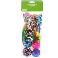Cat Toy Set with Balls and Mice - 12 Toys