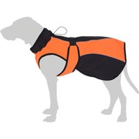 Orange Soft Shell Dog Coat - approx. 35cm Back Length