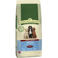 James Wellbeloved Adult Large Breed - Fish & Rice - Economy Pack: 2 x 15kg