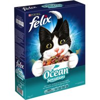 Felix Ocean Sensations Dry Cat Food with Fish - Economy Pack: 3 x 2kg