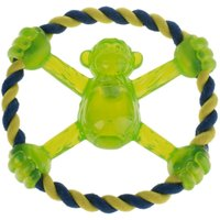 Flashing Monkey 2-in-1 Dog Toy - 1 Toy