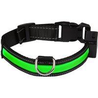 Eyenimal Light Collar USB - Green - Size M: 44 - 56cm neck circumference