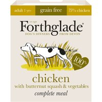 Forthglade Complete Meal Grain-Free Adult Dog - Chicken - Saver Pack: 36 x 395g