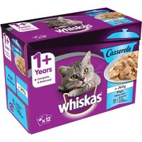 Whiskas 1+ Casserole Fish Selection in Jelly - 12 x 85g