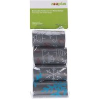 Dog Poop Bags in Winter Design - 4 Rolls (20 bags per roll)