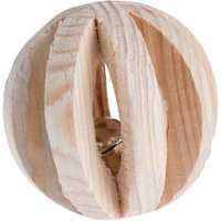 Wooden Ball with Bell - 6cm