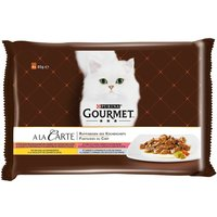 Gourmet A La Carte Mixed Pack 4 x 85g - Chicken, Trout, Beef, Pollack