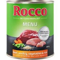 Rocco Menu 6 x 800 g - volaille, légumes, riz