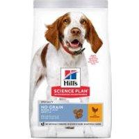 Hill's Adult 1-6 No Grain Medium Science Plan con pollo - 2 x 14 kg - Pack Ahorro