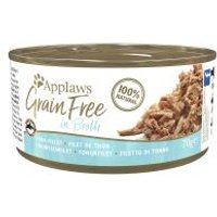 Applaws Grainfree en caldo 6 x 70 g - Filete de atún